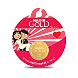 Nadir Rundbarren Goldbarren Goldgeschenke Hochzeitsgeschenke, 0,5 Gramm Gold mit Geschenkbeutel