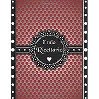 Ricettario Da Scrivere  Quaderno Ricette Da Scrivere Per 100 Ricetta Contiene Sommario