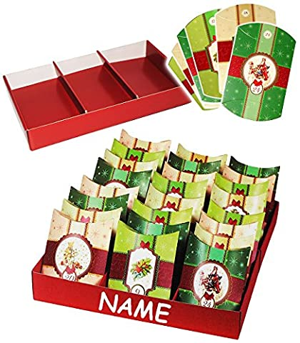 Weihnachtskalender - 24 Geschenkboxen / Adventskissen / Boxen -