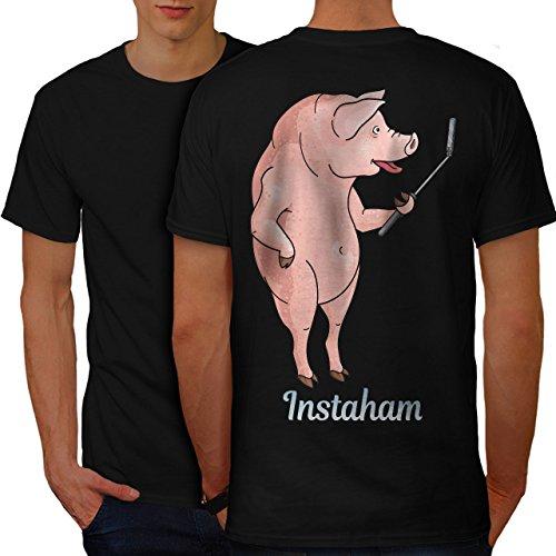 wellcoda Instaham Essen Männer 2XL Ringer T-Shirt