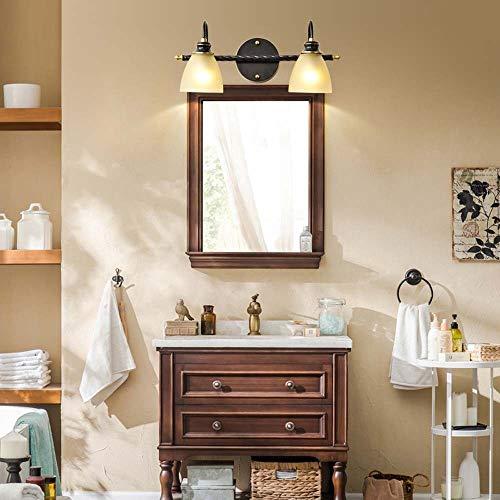 Kjdfn lussuoso tutti armadietto a specchio di rame fronte americano wc speciale lampada specchio apparecchio sanitario antiappannanti cosmetici spia vanità w45 * h20 * d19cm