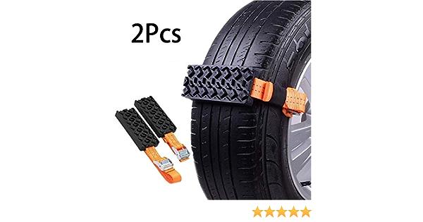 Riloer Schneeketten 2pcs Anti Rutsch Reifenketten Für Pkw Lkw Suv Anti Rutsch Autoreifengurt Für Den Notfall Im Freien 95 5 Cm Auto