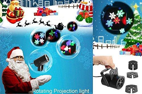W-ONLY YOU-J Luci proiettore di Natale impermeabile 7 show luce modelli, vacanze luci decorazione per 5 temi diversi