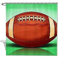 Rioengnakg American Football tenda da doccia in poliestere impermeabile antiscivolo, Poliestere, #1, 66