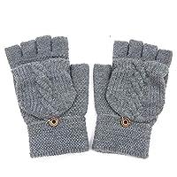 DAIFUQIANG Lady Men Hand Wrist Warmer Winter Fingerless Gloves Female Gloves Gift