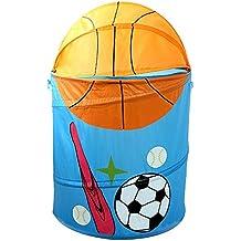 hangnuo plegable poliéster lavado ropa Lavandería Juguetes Cesta de almacenamiento cesta Pop Up organizador bolsas