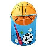 hangnuo faltbar Polyester Waschen Kleidung Wäschekorb Toys Aufbewahrungskorb Pop-Up Organizer Taschen baseball
