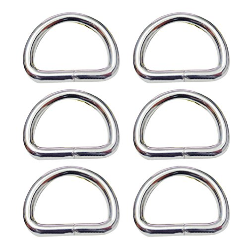 Beetest-D-Ringe 50 Stück Halbrundringe Eisen Silber