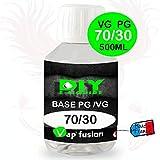 Base neutre - 500 ml- PG/VG - 30/70 - DIY E LIQUIDE - Vapfusion - Sans nicotine ni tabac