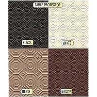Tavolo, colore: bianco, nero, marrone, beige, Rotondo, quadrato, rettangolare, Poliestere, Brown, BROWN TP ROUND 100cm Diam