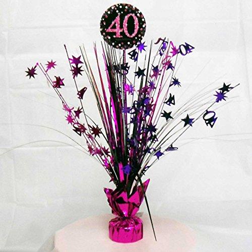 40th Birthday Spray Centrepiece Table Decoration Black Pink Purple Part 43