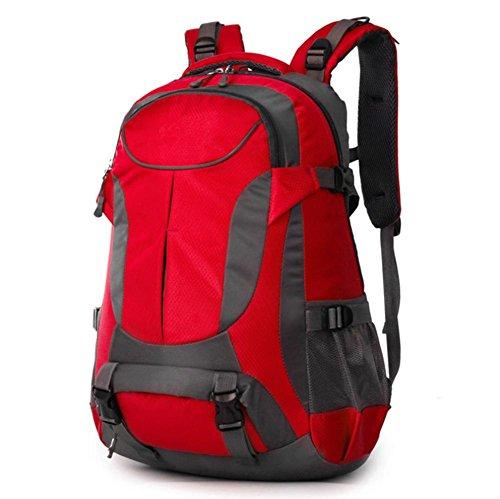 Xiuxiandianju 36-55L outdoor Bergsteigen Tasche Sport Reiten Schulter Rucksack Red