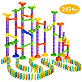 Elover Marble Run Toys 242 PCS Marble Run Coaster Railway Construction Child Building