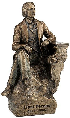 24,8cm Komponist Franz Liszt kalt gegossen Bronze Skulptur Figur