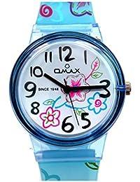 Omax Analog Blue Dial Children's Watch - KD107