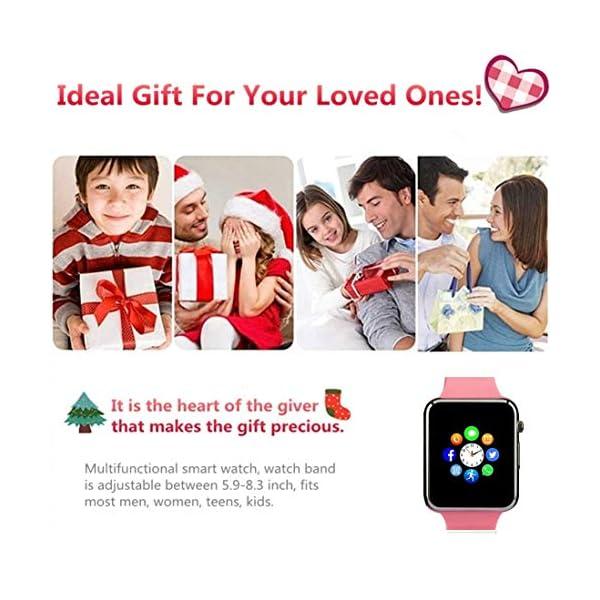 Reloj Inteligente, con Bluetooth y Ranura para Tarjeta SIM para Usar Como Teléfono Móvil. Reloj Deportivo con Rastreador… 7