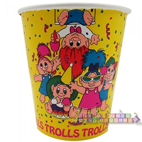 Preisvergleich Produktbild Troll Puppen Vintage Arbeitshemd Pappbecher (8Kt)