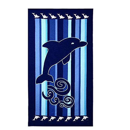 Telo mare, 100x 180cm, extra grande, asciugamano in microfibra per bagno o spiaggia...