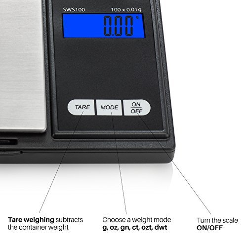 comprare on line Smart Weigh Bilancia Digitale di Precisione Elite, Portatile Bilancia, Nero prezzo
