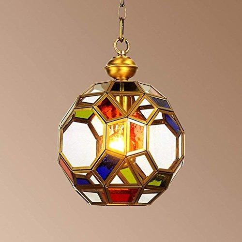 Wapipey Nordic Modern Minimalist Glasmalerei Kupfer Anhänger Hängen Licht Wohnzimmer Veranda Bar Kristallkugel Kronleuchter Restaurant Droplight Bar Einzigen Kopf Beleuchtungskörper E27 -