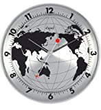 Opal World Map Printed Round Stainless S...