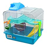 DI ZE LIN PET HOME S.L DZL Jaula para hamster 27*21*25cm caseta rueda bebedero comedero y escalera...