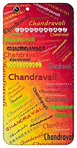 Chandravali (Brindavan Friend of Radha) Name & Sign Printed All over customize & Personalized!! Protective back cover for your Smart Phone : Motorola Moto - G ( 1st Gen )