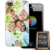 dessana Eigenes Foto transparente Schutzhülle Handy Tasche Case für Apple iPhone 4/4S