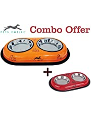 Pets Empire Combo Offer Cat Feeding Colored Diner 2 x 200 ml (Color May Vary) Pack of 2