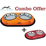Pets Empire Combo Offer Cat Feeding Colored Diner 2 X 200 Ml (Color May Vary)Pack Of 2