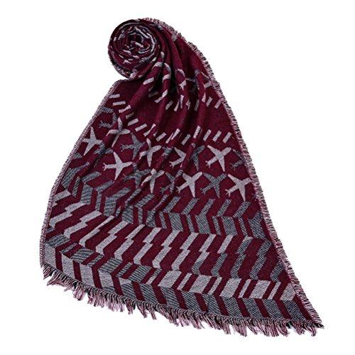 Ponchos For Women Sciarpa Donna Inverno Elegante Scialli Vintage Geometrie Pattern Moda Giovane Knitted Cashmere Sciarpe Autunno Poncho Inverno Caldo Scialle Mantelle Con Frangia Plus Size Rossi