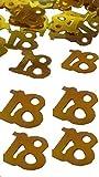 100 pezzi coriandoli-numeri CON CIFRA 18 ' ORO CONFETTI decorativi per occasioni COME COMPLEANNO ECC