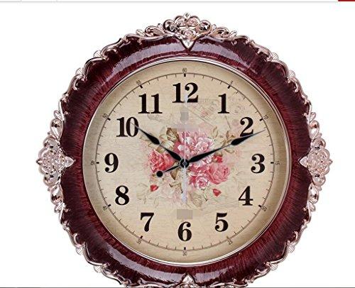 MNMKJH,orologio da parete pastorale, neoclassico cristallo epossidica rosa orologio d'oro, orologio europea soggiorno