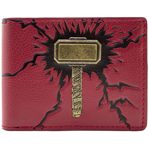 Cartera de Marvel Thor Martillo 3D rojo
