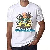 Hombre Camiseta Vintage T-Shirt Gráfico Summer Triangle Guadalajara Blanco