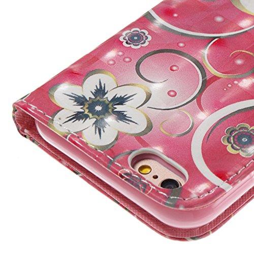 iPhone 6S Hülle , Caselover Tasche für iPhone 6 Premium Geldbeutel Kunstleder Flip Taschenhülle Handytasche Rückseite Schale für Apple iPhone 6S / 6 (4.7 zoll) Magnetverschluss Kartenfächer Klapptasch Mandala