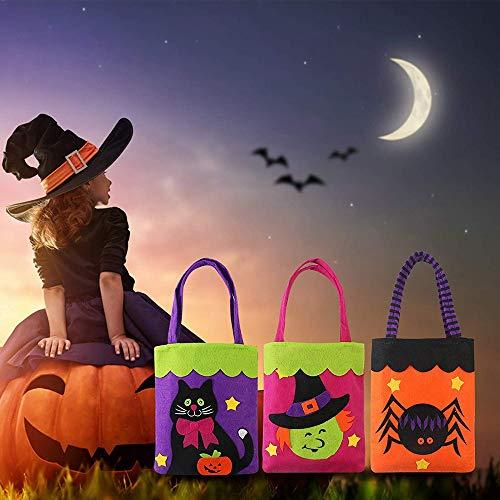 hen Trick Oder Behandeln Süßigkeiten Tote Taschen Für Kinder Halloween Thema Party Geschenk Gunst 3 Niedliche Stile ()