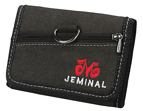 qishi-yuhua-jml-mens-retro-casual-short-3-fold-purse-black-canvas-wallets