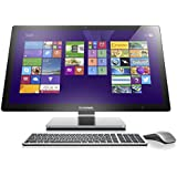 Lenovo A740 68,58 cm (27 Zoll) QHD LED All-In-One Desktop-PC (Intel Core i7-4558U, 3,3GHz, 8GB RAM, Hybrid 1TB HDD + 8GB SSHD, NVIDIA GeForce GTX 840A/2GB, Touchscreen, Win 8.1) silber