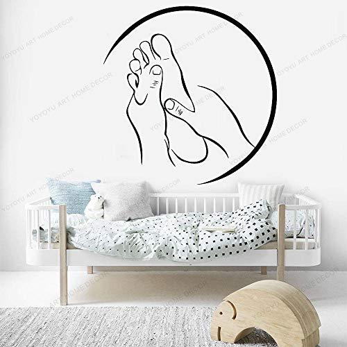 yaonuli Schönheitssalon spa wanddekoration fußmassage Shop Vinyl wandaufkleber Wohnzimmer Dekoration Aufkleber wandmalerei Aufkleber 75x66 cm