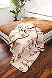Naturhaar Wolldecke 100% Merino Wolle 160x200cm Kamelwolle Schurwolle Bettdecke ELEGANCE LIGHT Kamelhaar Neuseeland