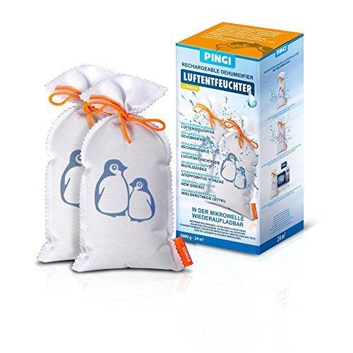Luftentfeuchter Pingi 500 XL 2er Set 500 Gramm pro Beutel Luftentfeuchter Granulat 12qm pro Beutel Trockenwunder -