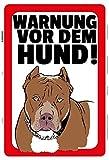 Warnung vor dem Hund! Warnschild hinweis schild aus blech, metal sign, tin