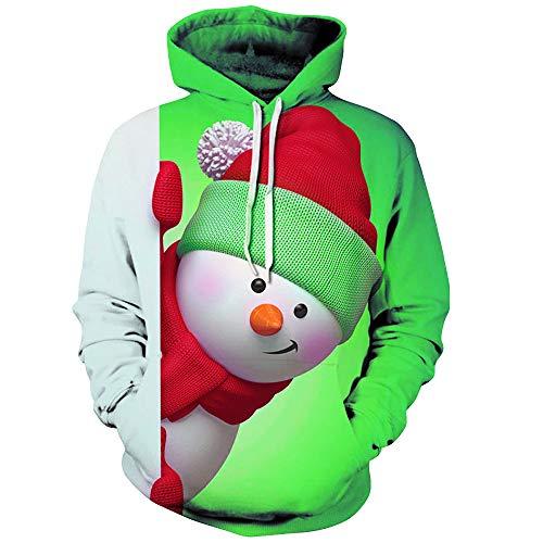 Hoodie Herren Kapuzenpullover 3D Druck Weihnachten Sweatshirt Pullover Lässiger Langarm Tops Jumper Pulli Kapuzenpulli Unisex Hip Hop Sweatshirts
