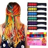 Kyerivs Haarkreide temporäre Haar Farbe Farbstoff für Kid Mädchen Party und Cosplay DIY Festival Kleid bis funktioniert auf allen Haar Farben Idee Weihnachts-geschenk für Mädchen Kinder Mini 6