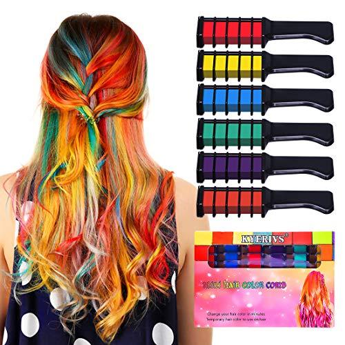 Kyerivs Haarkreide temporäre Haar Farbe Farbstoff für Kid Mädchen Party und Cosplay DIY Festival Kleid bis funktioniert auf allen Haar Farben Idee Weihnachts-geschenk für Mädchen Kinder Mini ()