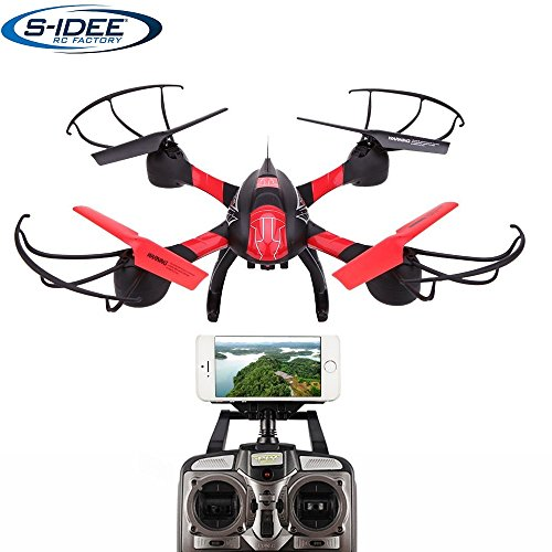 Preisvergleich Produktbild s-idee® 01633 Quadrocopter S1315 Wifi HD Kamera FPV Höhenstabilisierung, One Key Return, Coming Home / Headless VR möglich, Drohne 360° Flip Funktion, 2.4 GHz mit Gyro, 4-Kanal, 6-AXIS System Drone Selfie mit Camera 720p