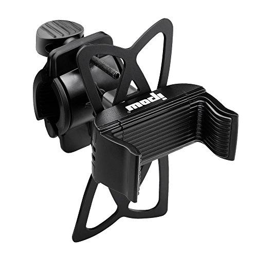 ipow Handyhalterung Fahrrad Metall Handyhalter fürs Fahrrad mit 360 Drehen, Fahrradhalterung Motorradhalterung Universal für iPhone Samsung Huawei Smartphone GPS Geräte