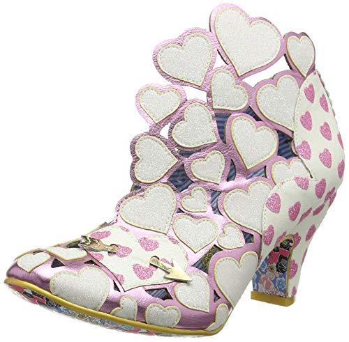 Irregular Choice Meile, Zapatos de tacón con Punta Cerrada para Mujer, Blanco (White Multi Dark), 38