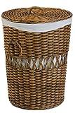 Wäschekorb rund aus Rattan - Versandkostenfrei in DE